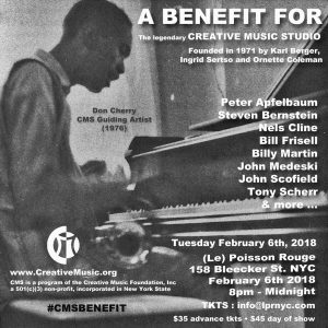 CMF BENEFIT at (le) Poisson Rouge February 6th at 8pm-12