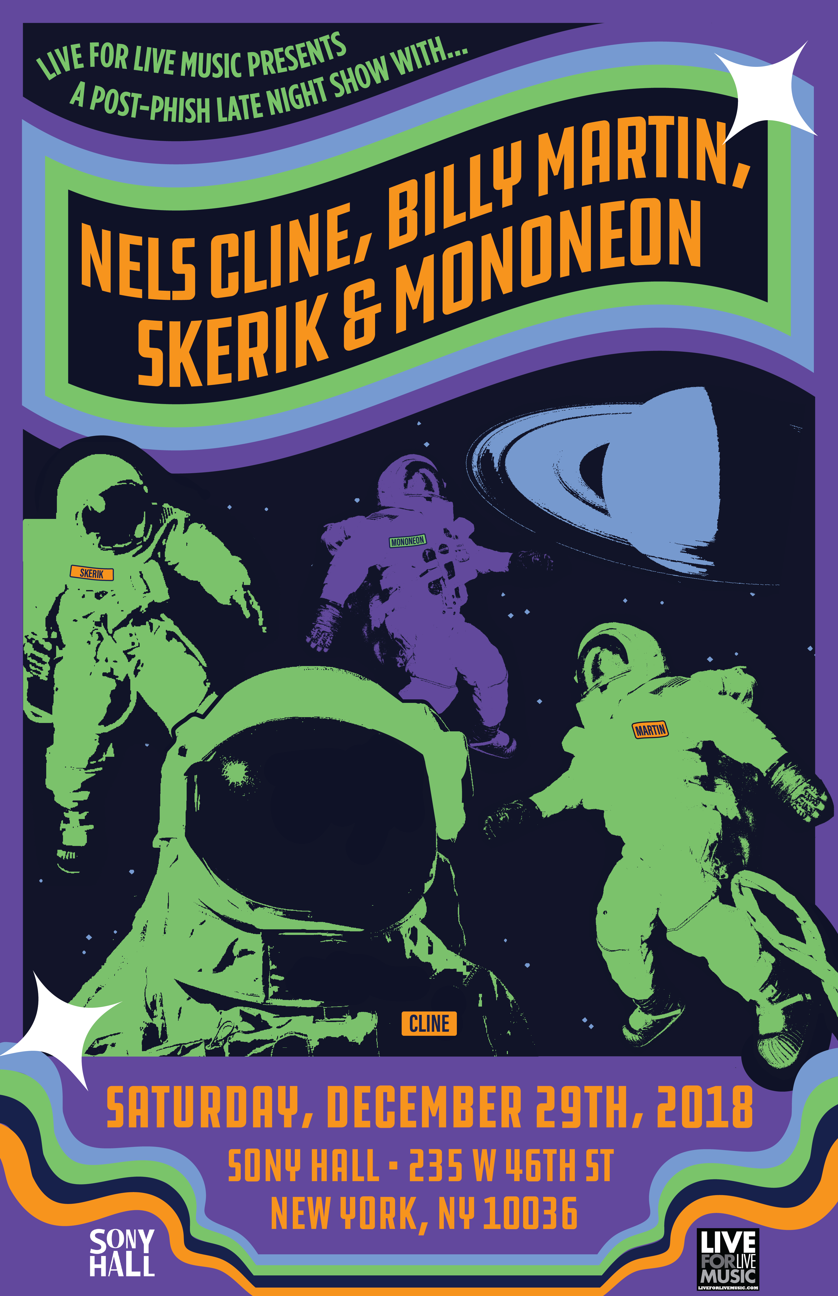 Skerik, Billy Martin, Nels Cline & Mononeon-Post Phish Party Poster Art