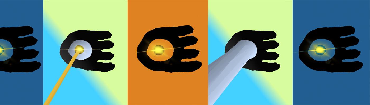 laser logo banner